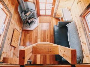 A seating area at Big Tiny Seven Hills Tiny House, Tallarook