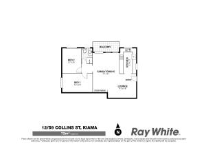 The floor plan of Waves Appartment