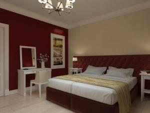 Кровать или кровати в номере Barin Residence Balchug