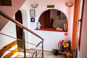 The lobby or reception area at Vien Guest House