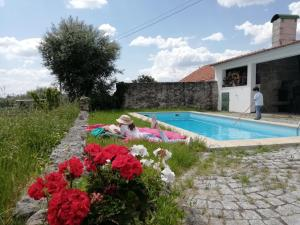 The swimming pool at or near Avó Quitas, country house