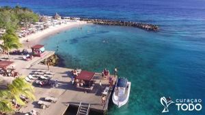 Uma vista aérea de Villa Sol Paraiso