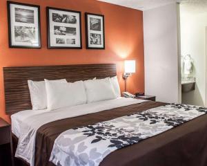 A bed or beds in a room at Sleep Inn Arlington Near Six Flags