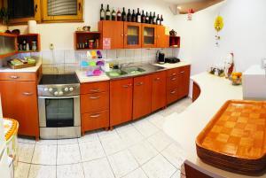 A kitchen or kitchenette at Unity Hostel