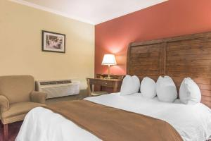A bed or beds in a room at Rodeway Inn King William Huntsville