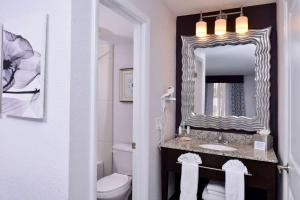 A bathroom at Clarion Inn & Suites Across From Universal Orlando Resort