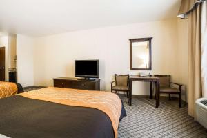A bed or beds in a room at Comfort Inn & Suites Henderson - Las Vegas