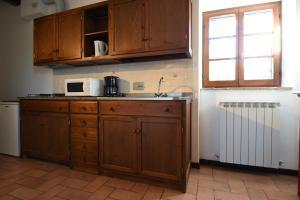 Küche/Küchenzeile in der Unterkunft Miralduolo