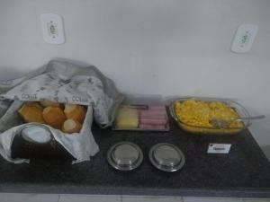 Breakfast options available to guests at Hotel Brasão