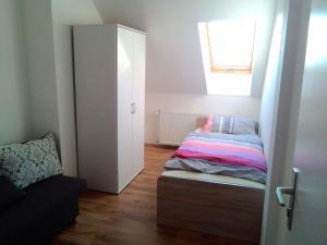 Ein Bett oder Betten in einem Zimmer der Unterkunft Hostel Falkenstein
