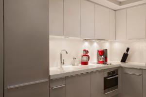 A kitchen or kitchenette at The Grand Tarabya Hotel