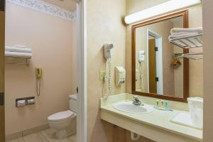 A bathroom at Quality Inn Fresno Airport