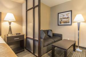 A seating area at Comfort Suites Downtown
