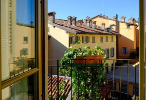 Een balkon of terras bij Petronilla - Hotel In Bergamo