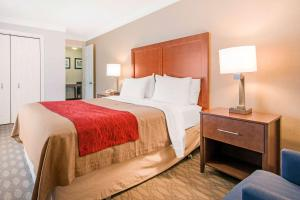 A bed or beds in a room at Comfort Inn Fallsview