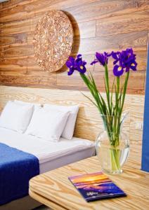 A seating area at Design Hotel Skopeli