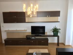 A television and/or entertainment center at Apartment