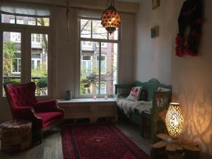 A seating area at Bohemian loft