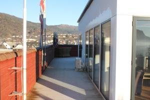 A balcony or terrace at Kløver Hotel