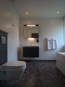 Ett badrum på STF Hemavans Fjällcenter