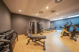 The fitness center and/or fitness facilities at roomz Vienna Prater