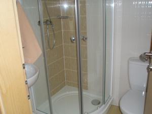 Kúpeľňa v ubytovaní Aqua Spa Ganovce