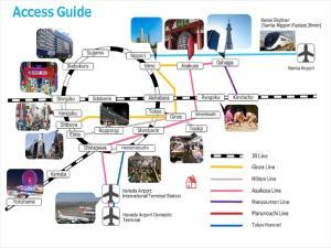 The floor plan of IKIDANE Cozy Hotel Haneda Airport