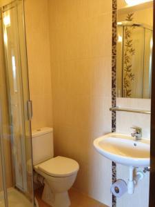 Koupelna v ubytování Pension Horske Zatisi