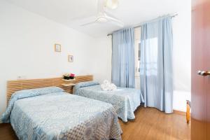 Een bed of bedden in een kamer bij Apartaments Els Llorers