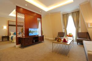 A television and/or entertainment center at FLC Luxury Resort Vinh Phuc
