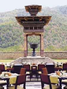 A restaurant or other place to eat at Taj Tashi Bhutan