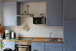 A kitchen or kitchenette at Ferienwohnung Wagner