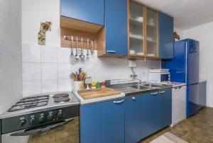 Kuchyň nebo kuchyňský kout v ubytování Apartments Babaja