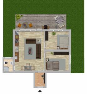 The floor plan of Gemütliche FeWo mit Terrasse am Wald