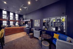 The lounge or bar area at Malmaison Liverpool