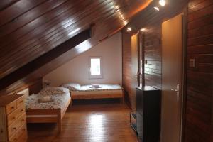 Postel nebo postele na pokoji v ubytování Tašovice