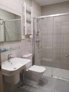 Ein Badezimmer in der Unterkunft A Torre do Lago