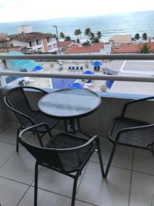 Uma varanda ou terraço em Terrazzo Ponta Negra Flat