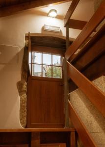 Uma ou mais camas em beliche num quarto em Casa Abraao
