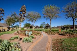 A garden outside Lapa Lange Game Lodge