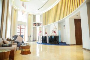 منطقة الاستقبال أو اللوبي في فندق في بوتيك