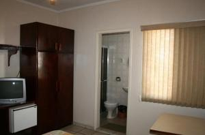 A bathroom at Hotel Capriccio São Caetano