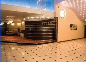 The lobby or reception area at Hotel Skalite
