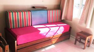 Una cama o camas en una habitación de Cabañas Puerta del Sol