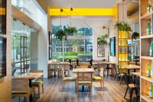 A restaurant or other place to eat at Somerset Berlian Jakarta