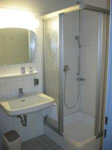 Ein Badezimmer in der Unterkunft WAGNERS Hotel im Fichtelgebirge