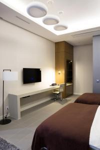 A television and/or entertainment center at Hotel Mate Bundang