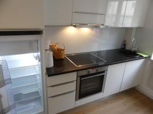 Küche/Küchenzeile in der Unterkunft Maxfeld