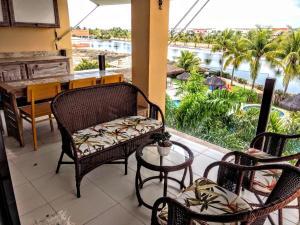 A seating area at Apartamento Alto Padrão 2 quartos Iberostate Praia do Forte
