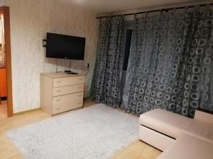 Телевизор и/или развлекательный центр в Apartment on Lunacharskogo 3
